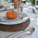 Blue And Orange Fall Tablescape