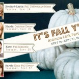 It's Fall Y'all:  Fall Decorating Link Parties