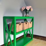 Mean Green Bookcase Painting Machine