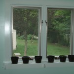 Kitchen Window Trim & Shelf
