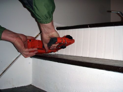 Nailing In Staircase Riser