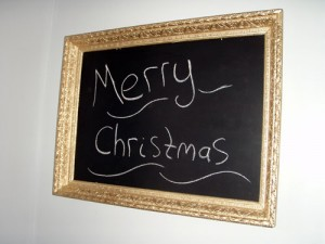 Merry Christmas Chalkboard Message