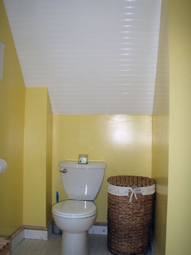 . Bead Board Bathroom Ceiling   Angie s Roost