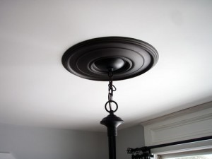 Installed Ceiling Medallion