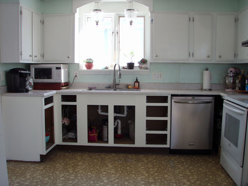 Painted Kitchen Cabinets With Exposed Hinges: Painted kitchen ...