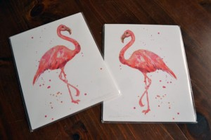 Pink Flamingo Prints
