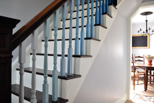 Blue Ombre Balusters