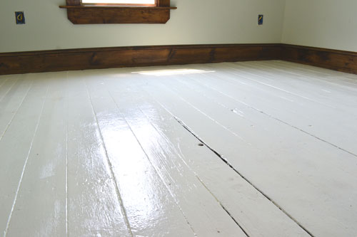 White Painted Floor Boards