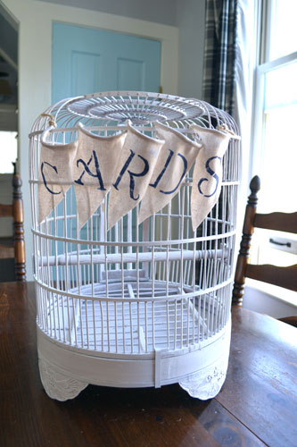 Card Banner On BIrd Cage