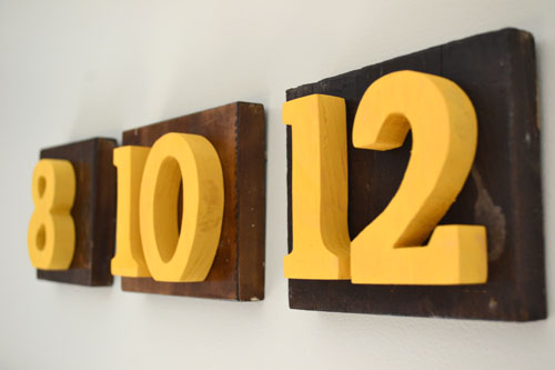 Wedding Date Art From Recycled Table Numbers