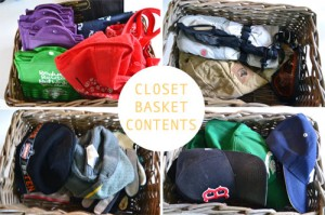 Organized Closet Baskets