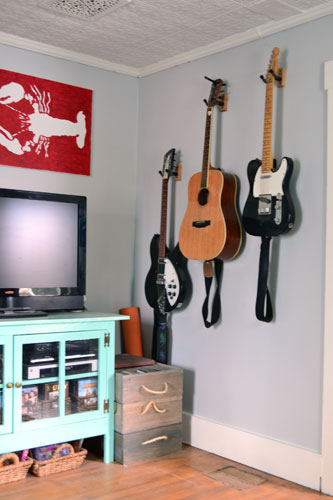 "Hang Guitar On Wall thoughts on hanging a guitar on the wall - overly ""bachelor"