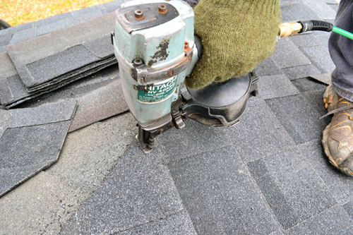 Securing Shingle With Roofing Nails