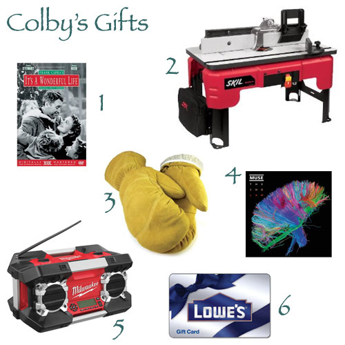 Colbys Christmas Gifts 2012