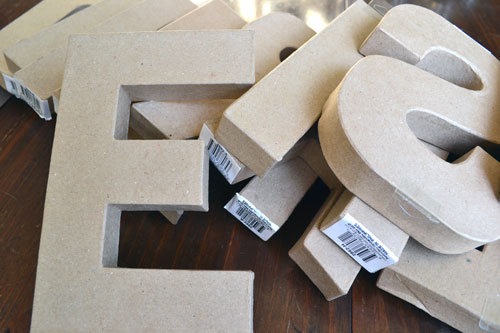 cardboard letters from the craft store angies roost
