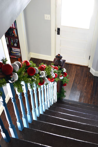 Garland On Staircase