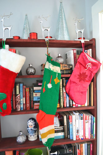 Stockings Hung On The Bookcase