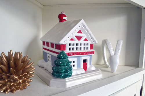 Ceramic Christmas House From My Grandma