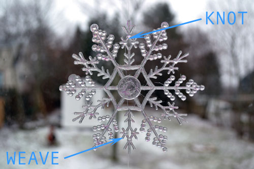 Weaving Fishing Line Through Snowflake