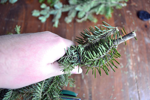 Adding Branch Bunches To Garland