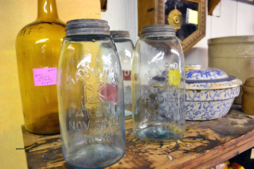 Aqua Mason Jars With Metal Lids