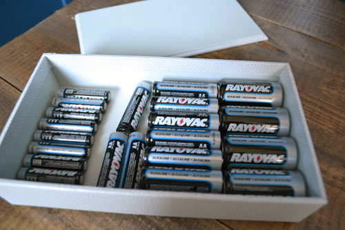 Batteries In White Box