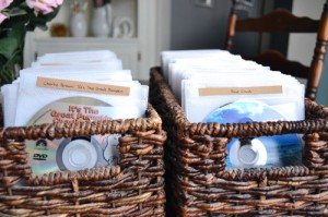 DVD Sleeves In Baskets