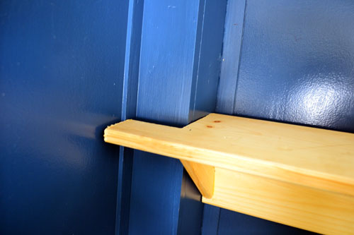 Entry Shelf Notched Around Beam