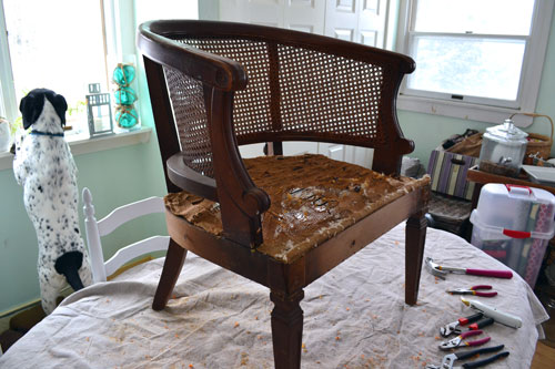Removing Chair Upholstery