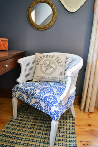 Reupholstered Craft Room Chair