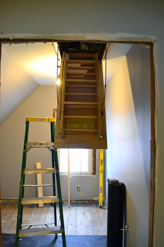 Attic Staircase Installed