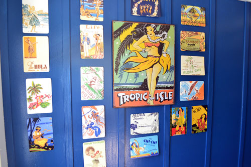 Hulu Girl Postcard Art In The Entry
