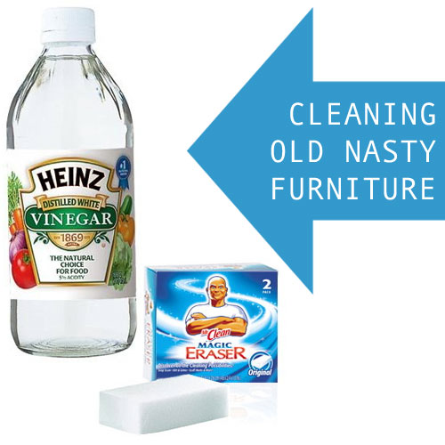 Give Old Furniture New Life With Vinegar And Magic Erasers