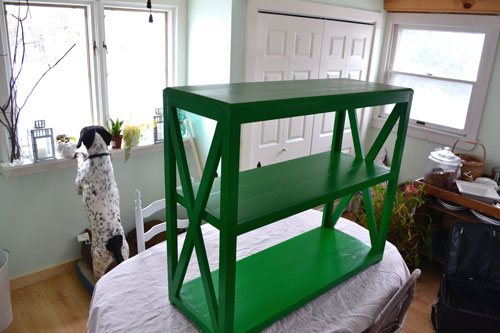 Green Painted Bookcase
