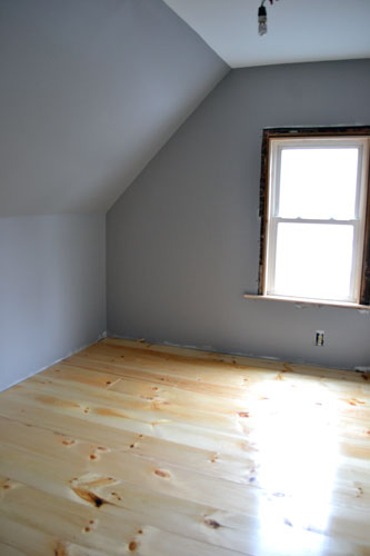 Wide Pine Floor In Guest Room