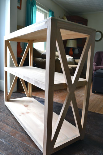 X Side Bookcase Built By Colby Angie S Roost