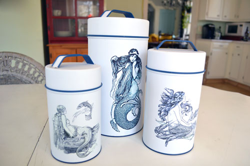 Metal Mermaid Canisters From Home Goods