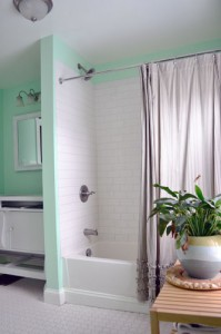Mint Colored Bathroom