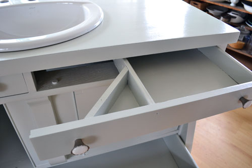 Modified Top Vanity Drawer For Sink