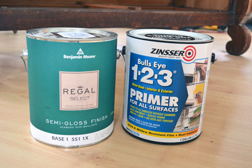Primer And Benjamin Moore Regal Select Paint In Semi Gloss