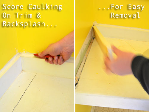 Score Caulking To RemoveTrimWithEase