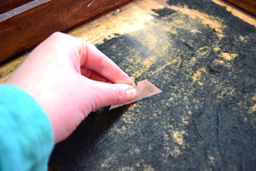 Scraping Felt From Drawer