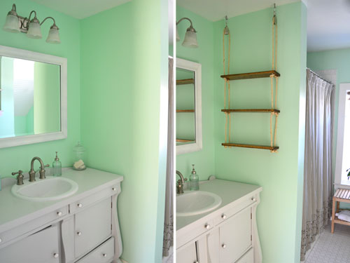 Adding A Rope Shelf To The Bathroom