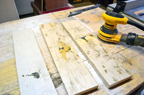 Attempting To Sand Old Boards Without Success