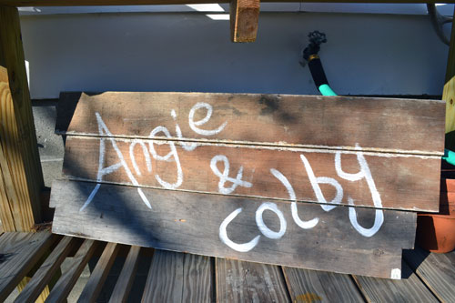 Old Sign From Our Wedding
