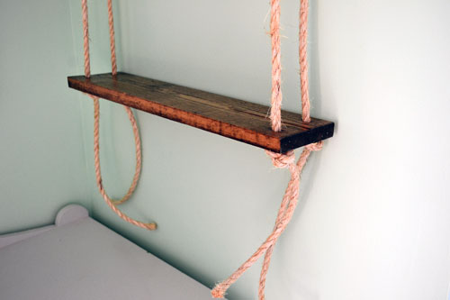 Trim Excess Rope Under Shelf