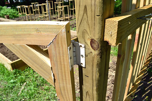 Attach Hinges To Fence Gate