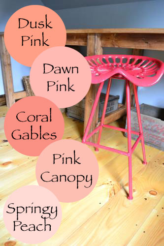 Coral Pink Color Options For Stool