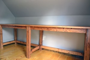 Desk Stained With Lightened Early American Stain