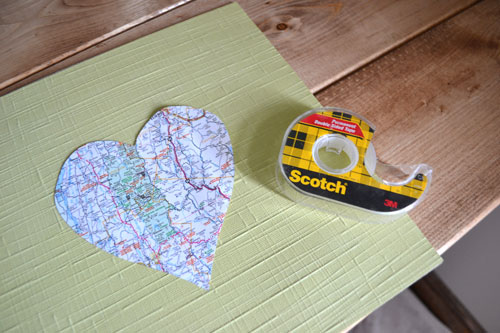 Double Sided Tape For Map Hearts